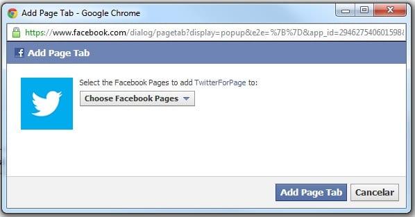 pestañas de Facebook