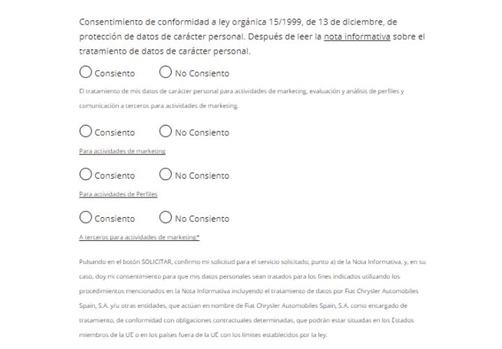 formularios tipo GDPR