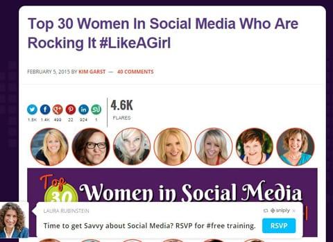 Herramientas Social Media Sniply